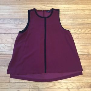 Madewell burgundy/black blouse - Large